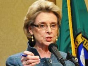 Membership card intact: Former Democratic attorney general and Gov. Christine Gregoire pursued suit against Washington Education Association.