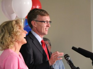 McKenna with wife Marilyn on primary night 2012.