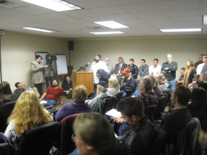 Artis Falkner tells the board: Look at all these job creators!