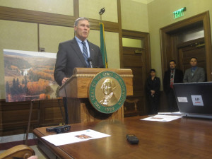 Gov. Jay Inslee pledges his support for state's newest industry.