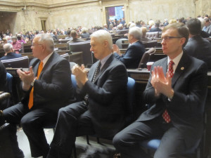 Also saying goodbye: Auditor Brian Sonntag, Secretary of State Sam Reed, Attorney General Rob McKenna.