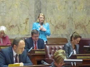 Senate Commerce and Labor Chair Janea Holmquist Newbry, R-Moses Lake.