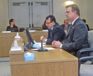 Martin Valadez and Steve Simmons testify before the Senate energy panel Feb. 12.