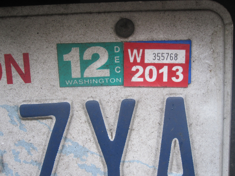 Car Tabs Washington Cost