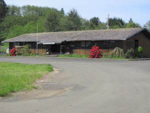 Former sawmill office at the Raymond facility that will provide headquarters location.