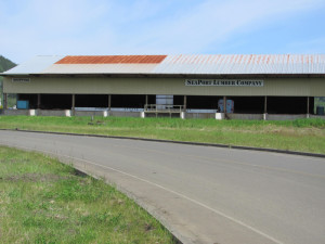 Storage shed at the Port of Willapa Harbor that will be used for Charles' grow operation.