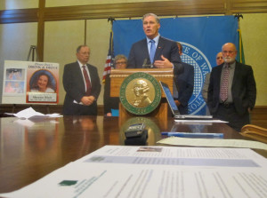 Inslee announces crowd-pleasing effort to crack down on drunk driving during waning days of regular session, long after legislative deadlines had passed.