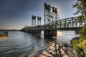 Existing Interstate Bridge at Vancouver: Oldest portions opened in 1917.