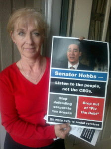 """From Washington Community Action Network's website, """"Hobbs Listen to the People."""""""