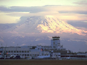 Sea-Tac International Airport, North America's 17th busiest airport.