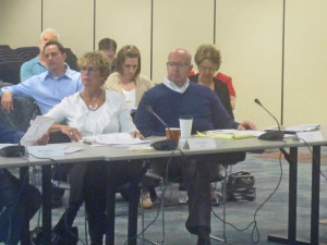 AWB's Kris Tefft, right, is seated alongside Nancy Dicus of Vigilant.