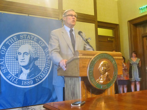 """Blames failures on """"Republican ideology"""": Gov. Jay Inslee."""