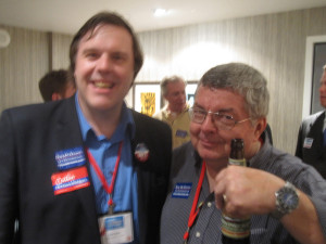No bygones: Wilbur with former state Republican chair Luke Esser at the 2012 Republican convention.