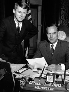 Back in the day: Sam Reed and Gov. Dan Evans.
