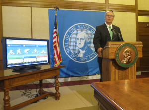 Inslee announces Results Washington plan at a rather more traditional news conference Tuesday.