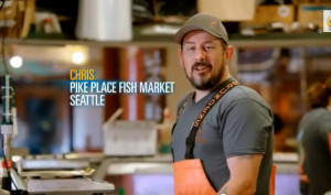 "Pike Place fishmonger Chris figures in yes-on-522 ad: ""It's simple and it won't cost you a dime."""