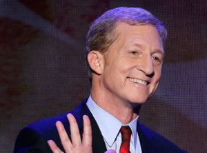 California billionaire Tom Steyer delivers a six-minute address at the Democratic National Convention in 2012, touting clean energy.