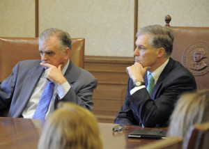 As part of last session's lobbying effort, Inslee brought Transportation Secretary Ray Lahood to the statehouse for a closed-door meeting with the Senate Majority Coalition Caucus.