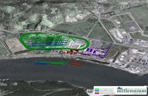 The $643 million Millennium Bulk Terminal would occupy a former Reynolds smelter located at the Port of Longview. When fully developed, the port would be capable of shipping 44 million metric tons of coal annually; other portions of the site might be used for agricultural and other bulk commodities.