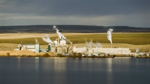Boise Cascade's Wallula pulp mill: The pulp and paper industry would be sharply affected.
