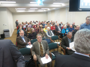 The room was packed last week as the climate workgroup held a public hearing.