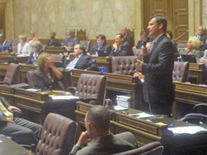 "Rep. Matt Manweller, R-Ellensburg, gets off best bon mot of the day: Legislature shouldn't ""out-Kshama Kshama Sawant."""