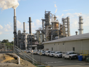 Favorite target: Phillips refinery at Cherry Point, near Bellingham.