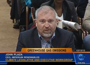 Bright future for biofuel industry: John Plaza of Imperium Renewables was among dozens last month who spoke in support of the governor's climate-change initiative.