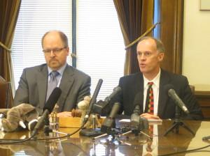 House Republican Leader Dan Kristiansen, R-Snohomish, and Senate Majority Leader Rodney Tom, D-Medina.