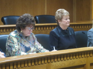 Senate Transportation Co-Chair Tracey Eide, D-Federal Way, and House Transportation Chair Judy Clibborn, D-Mercer Island.