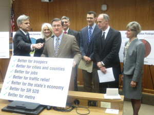 Senate Transportation Co-Chairman Curtis King, R-Yakima, releases Majority Coalition's transportation proposal Thursday.