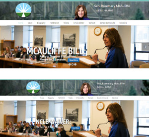 "An odd change to Sen. Rosemary McAuliffe's website was made sometime late Thursday morning after it was noted that it continued to tout the teacher-evaluation bill. The original version said, ""McAuliffe Bill: Reform Teacher Evaluations, Renew NCLB Waiver."" The new version says ""NCLB Waiver: We Can Find a Better Solution."""