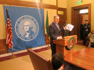Inslee shares the inside dope on transportation negotiations during his end-of-session news conference. Well, some of it, anyway.
