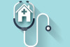 Stethoscope flat icon. Health care.