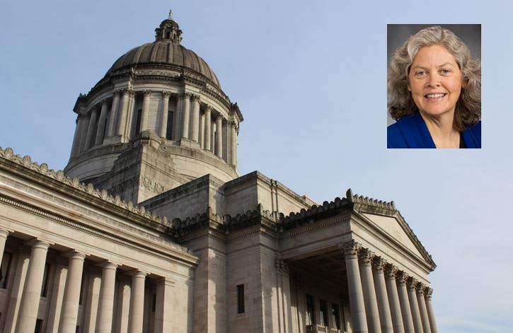 Mugshot of Rep. Laurie Jinkins courtesy of Washington Legislature. Statehouse photo by Erin Fenner.