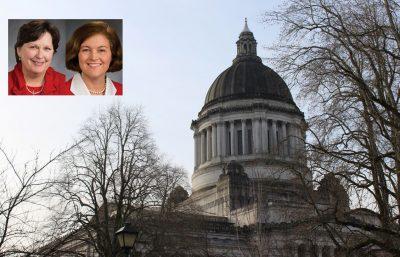 Rep. Kristine Lytton and Sen. Christine Rolfes mugshots courtesy of Washington Legislature. Statehouse photo by Erin Fenner.