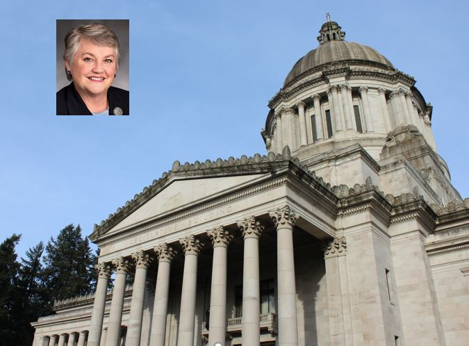 Sen. Maureen Walsh, R-Walla Walla, sponsored a bill that would expand access to dental health care. (Mugshot courtesy of the Washington Legislature. Statehouse photo by Erin Fenner.)